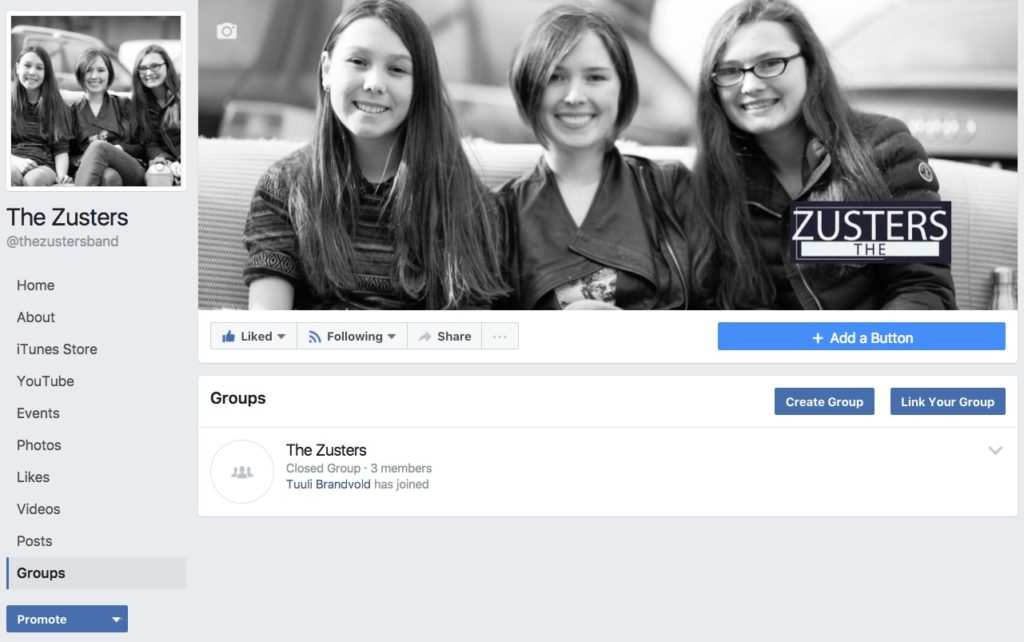 facebook group is connected to a facebook page