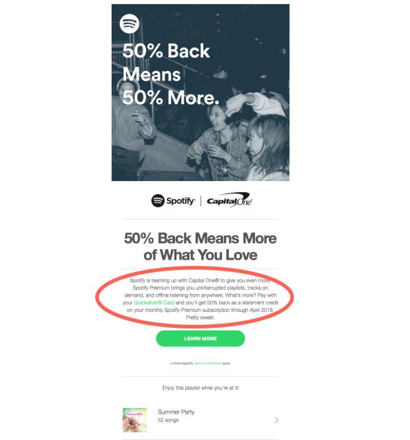 Spotify Capital One